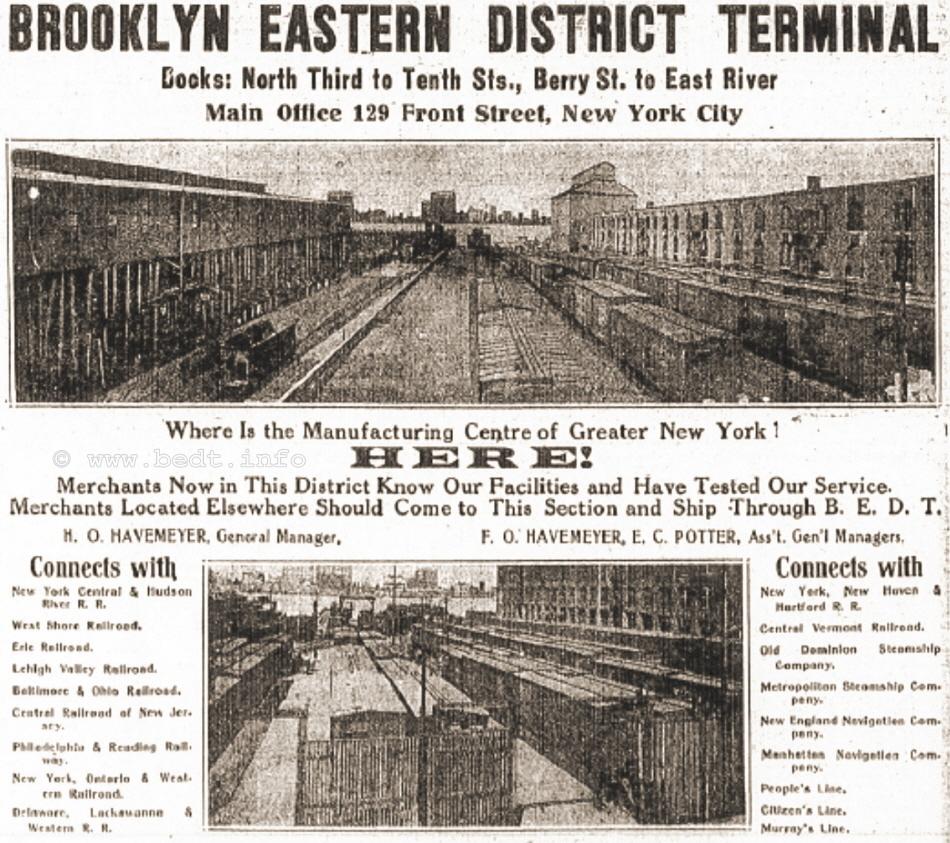Brooklyn Eastern District Terminal , BEDT , East River