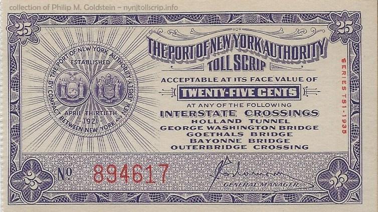 Triborough Bridge /& Tunnel Authority transit token New York City NY630BA